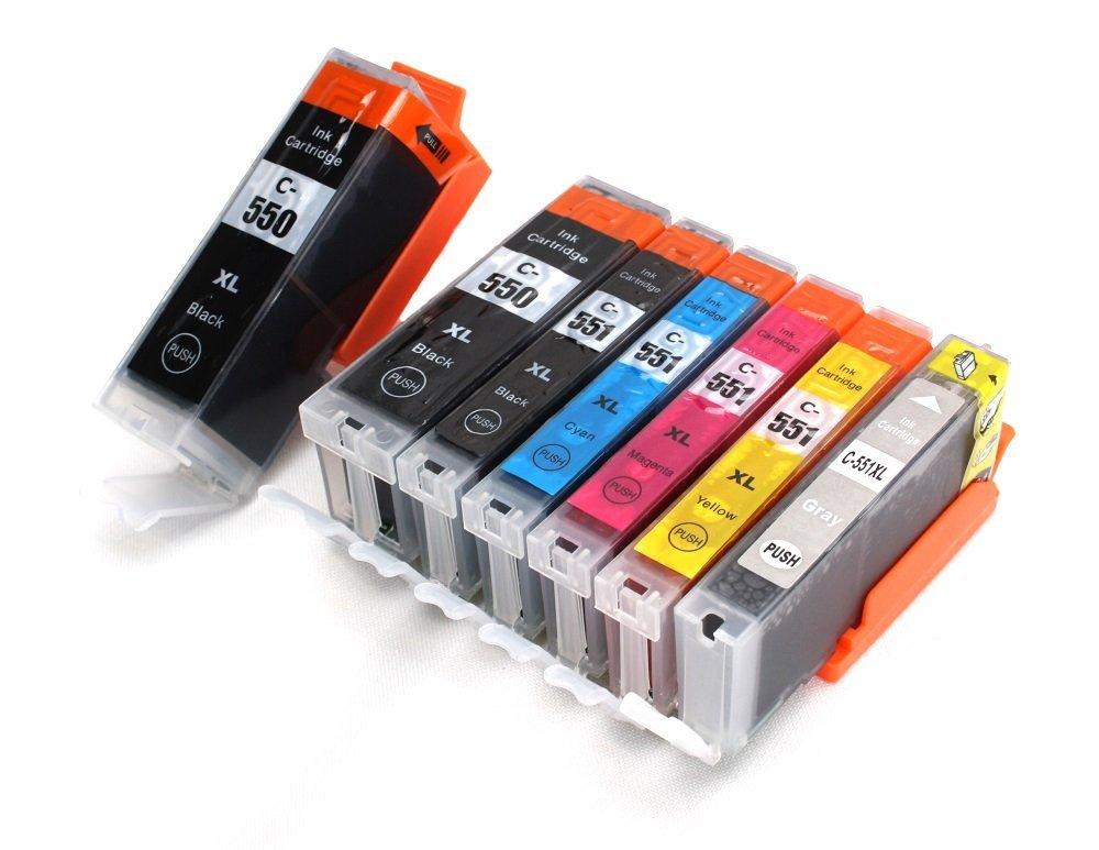 Canon 2x PGI-550 + CLI-551 multipack 7ks - kompatibilní