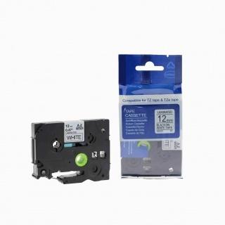 Kompatibilní páska Brother TZ-231 / TZe-231, 12mm x 8m, černý tisk / bílý podklad
