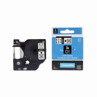 Kompatibilní páska Dymo 45013, S0720530, 12mm x 7m černý tisk / bílý podklad