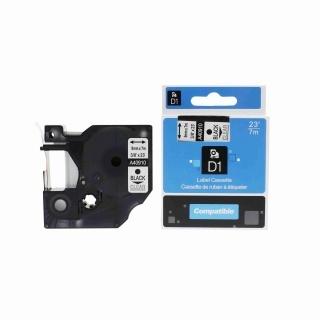 Kompatibilní páska Dymo 40910, S0720670, 9mm x 7m černý tisk / průhledný podklad
