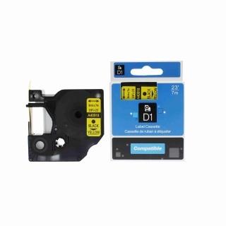 Kompatibilní páska Dymo 40918, S0720730, 9mm x 7m, černý tisk / žlutý podklad
