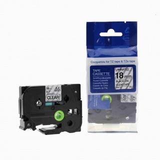 Kompatibilní páska s Brother TZ-141 / TZe-141, 18mm x 8m, černý tisk / průhledný podklad