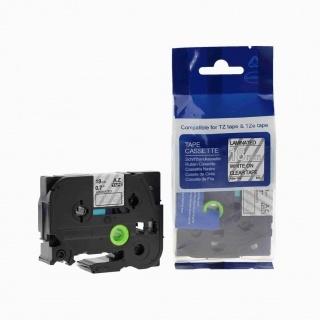 Kompatibilní páska s Brother TZ-145 / TZe-145, 18mm x 8m, bílý tisk / průhledný podklad