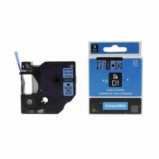 Kompatibilní páska s Dymo 45016, S0720560, 12mm x 7m černý tisk / modrý podklad
