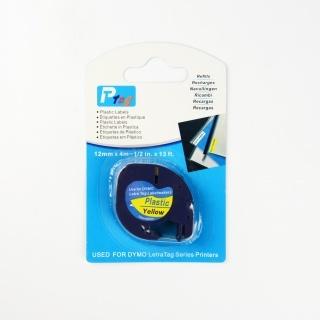 Kompatibilní páska s Dymo 59423, S0721570, 12mm x 4m, černý tisk / žlutý podklad