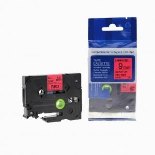 Kompatibilní páska s Brother TZ-421 / TZe-421, 9mm x 8m, černý tisk / červený