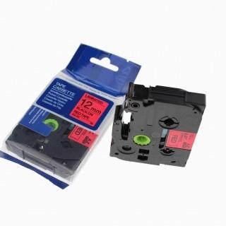 Kompatibilní páska s Brother TZ-431 / TZe-431, 12mm x 8m, černý tisk / červený