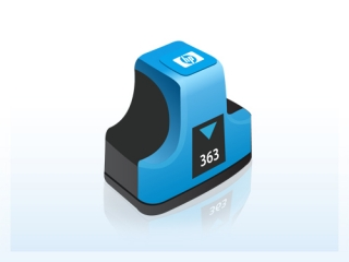 HP C8771EE- HP 363 cyan - kompatibilní