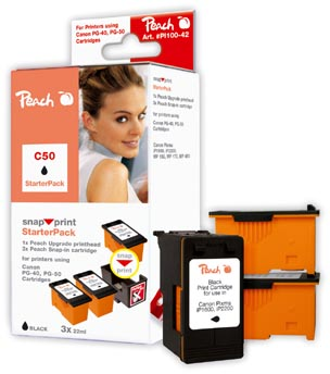 Peach alternativní Canon PG-37/PG-40/PG-50 Snap StarterPack 3x22ml