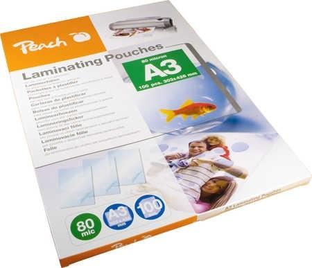 Peach PP580-01 laminovací fólie A3 80mic - 100ks